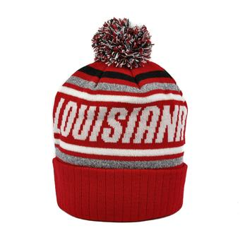 Louisiana Lafayette Ragin' Cajuns Top Of The World Red Stryker Cuffed Knit Hat (Adult One Size)