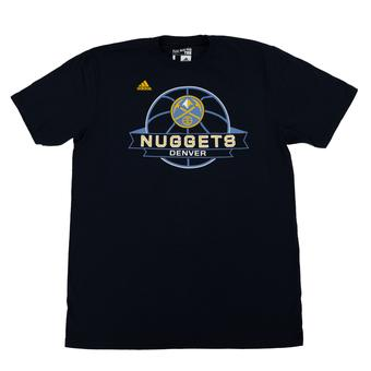 Denver Nuggets Adidas Navy The Go To Tee Shirt (Adult M)