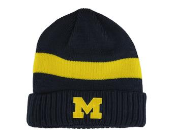 Michigan Wolverines Adidas Navy Cuffed Knit Hat (Adult One Size)