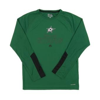 Dallas Stars Majestic Green Cutting Through Performance Long Sleeve Tee Shirt (Adult M)