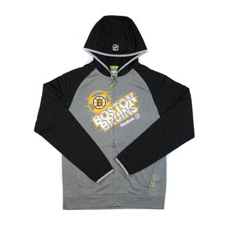 Boston Bruins Reebok Grey TNT Performance Full Zip Hoodie (Adult XXL)