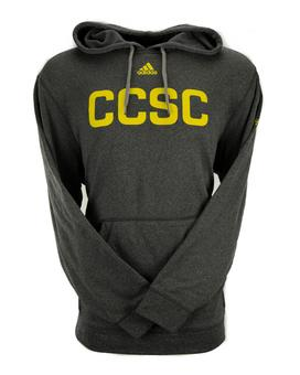 Columbus Crew Adidas Grey Climalite Performance Fleece Hoodie (Adult M)