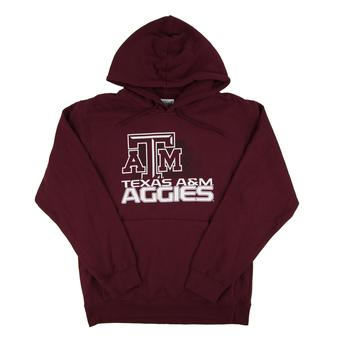 Texas A&M Aggies Majestic Maroon Fan Focused Pullover Fleece Hoodie (Adult M)