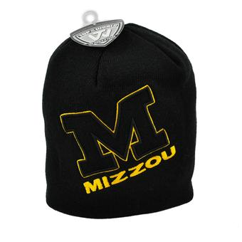 Missouri Tigers Top Of The World Black Frigid Team Name Knit Hat (Adult One Size)