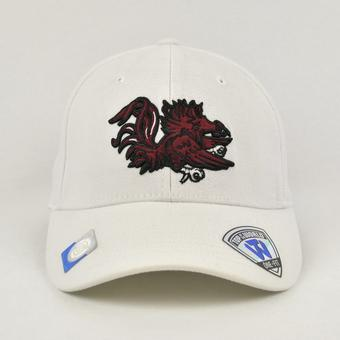 South Carolina Gamecocks Top Of The World Premium Collection White One Fit Flex Hat (Adult One Size)