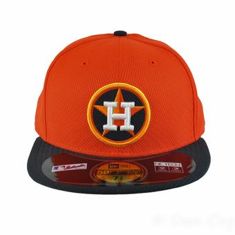 Houston Astros New Era Diamond Era 59Fifty Fitted Orange & Navy Hat (7 5/8)