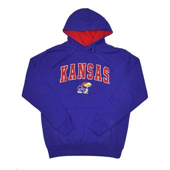 Kansas Jayhawks Colosseum Blue Zone Pullover Fleece Hoodie (Adult M)