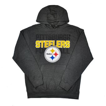 Pittsburgh Steelers Majestic Charcoal Grey 1st & Goal VI Fleece Hoodie (Adult L)
