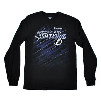 Tampa Bay Lightning Reebok Black The New SLD Long Sleeve Tee Shirt (Adult XL)