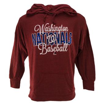 Washington Nationals Majestic Heather Red All Star Act Pullover Hoodie (Womens M)