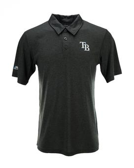 Tampa Bay Rays Majestic Charcoal Changeup Swing Polo (Adult XXL)