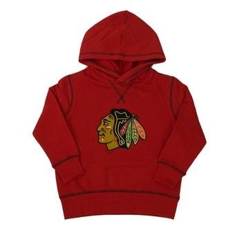 Chicago Blackhawks Old Time Hockey Pogo Red Toddler Fleece Hoodie (Toddler 2T)