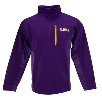 LSU Tigers Colosseum Purple Surge 1/4 Zip Pullover Performance Fleece (Adult S)