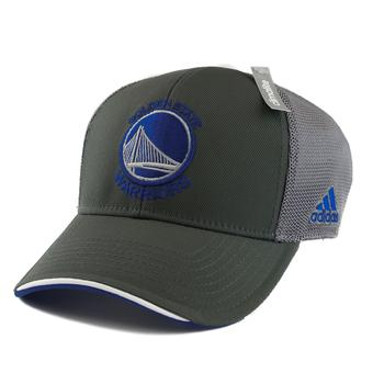 Golden State Warriors Adidas NBA Grey Climalite Pro Shape Flex Hat (Adult S/M)