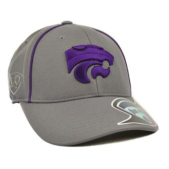 Kansas State Wildcats Top Of The World Linemen Charcoal Grey One Fit Flex Hat (Adult One Size)