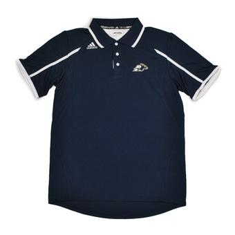 Akron Zips Adidas Navy Climalite Performance Polo (Adult XL)