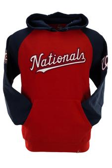 Washington Nationals Majestic Red Grand Slam Fleece Pullover Hoodie