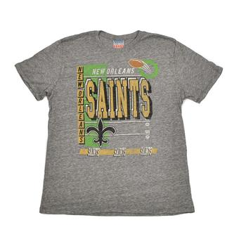 New Orleans Saints Junk Food Gray Touchdown Tri-Blend Tee Shirt (Adult L)