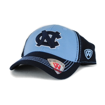 North Carolina Tar Heels Top Of The World Haymaker Two Tone Navy One Fit Hat (Youth One Size)