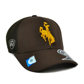 Wyoming Cowboys Top Of The World Resurge One Fit Flex Hat (Adult One Size)