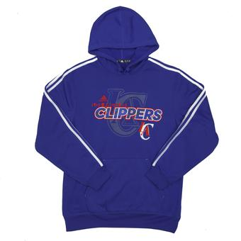 Los Angeles Clippers Adidas Blue 3 Stripe Fleece Hoodie (Adult M)