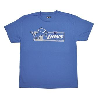 Detroit Lions Majestic Blue Critical Victory VII Tee Shirt