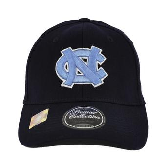 North Carolina Tar Heels Top Of The World Premium Collection Navy One Fit Flex Hat (Adult One Size)