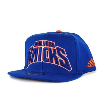 New York Knicks Adidas NBA Authentic Draft Blue Snapback Hat (Adult One Size)