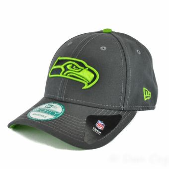 Seattle Seahawks New Era 9Forty Gray League Pop Adjustable Hat (Adult One Size)