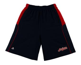 Cleveland Indians Majestic Navy Batters Choice Shorts (Adult M)