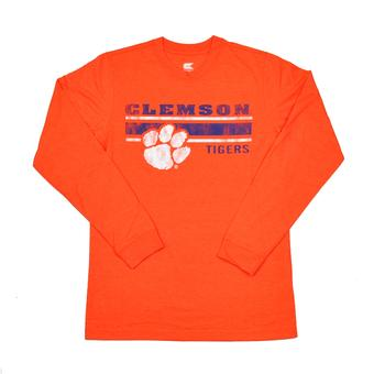 Clemson Tigers Colosseum Orange Warrior Long Sleeve Tee Shirt (Adult L)