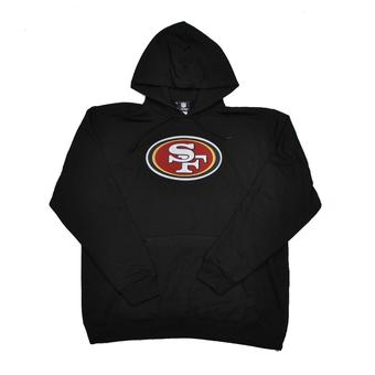 San Francisco 49ers Majestic Black Telepatch Fleece Hoodie (Adult L)