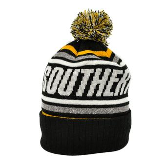 Southern Mississippi Top Of The World Black Stryker Cuffed Pom Knit Hat (Adult One Size)