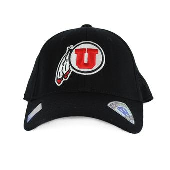 Utah Utes Top Of The World Premium Collection Black One Fit Flex Hat (Adult One Size)