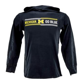Michigan Wolverines Colosseum Navy Windchill Lightweight Hoodie