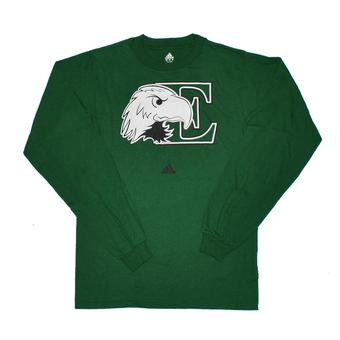 Eastern Michigan Eagles Adidas Green Long Sleeve Tee Shirt (Adult S)