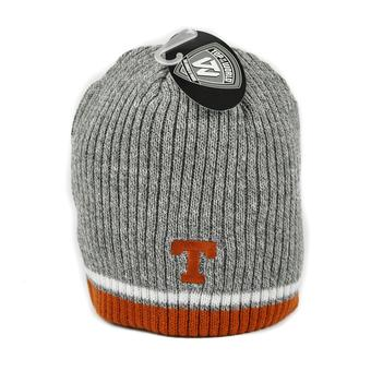Texas Longhorns Top Of The World Gray Fog Uncuffed Knit Hat (Adult One Size)