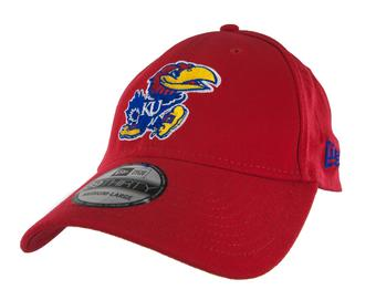 Kansas Jayhawks New Era 39Thirty Team Classic Red Flex Fit Hat (Adult M/L)