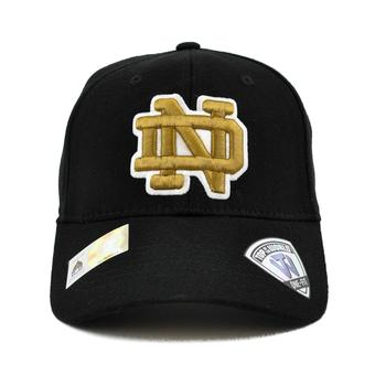Notre Dame Fighting Irish Top Of The World Premium Collection Black One Fit Flex Hat (Adult One Size)