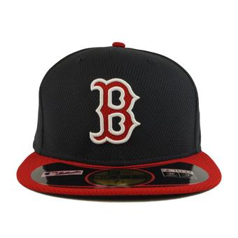 Boston Red Sox New Era Diamond Era 59Fifty Fitted Navy & Red Hat