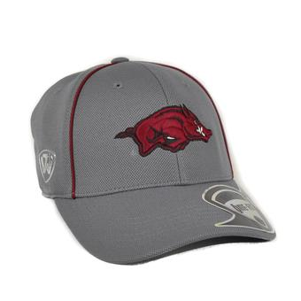 Arkansas Razorbacks Top Of The World Linemen Charcoal Grey One Fit Flex Hat (Adult One Size)