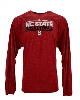 North Carolina State Wolfpack Adidas Red Climalite Performance Long Sleeve Tee Shirt (Adult M)