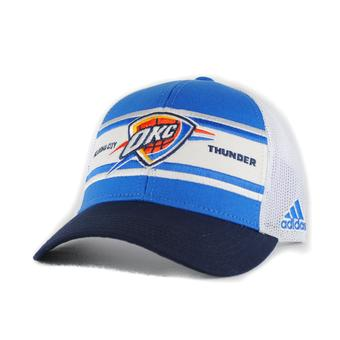 Oklahoma City Thunder Adidas NBA Trucker Snap White Hat (Adult One Size)