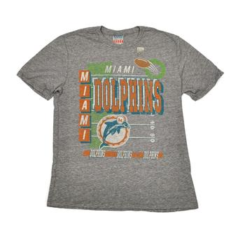 Miami Dolphins Junk Food Gray Touchdown Tri-Blend Tee Shirt (Adult L)