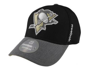 Pittsburgh Penguins Reebok Black Playoffs Cap Flex Fitted Hat (Adult L/XL)