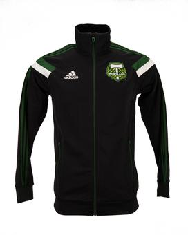 Portland Timbers Adidas Black Anthem Performance Full Zip Track Jacket (Adult M)