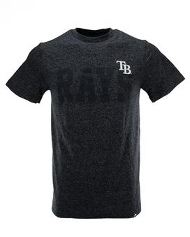Tampa Bay Rays Majestic Marled Navy Baseline Appeal Tee Shirt