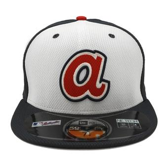 Atlanta Braves New Era Diamond Era 59Fifty Fitted Navy & White Hat (7 1/2)