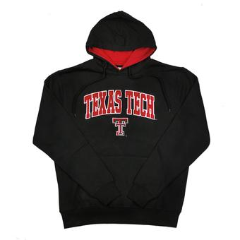 Texas Tech Red Raiders Colosseum Black Zone Pullover Fleece Hoodie (Adult XXL)