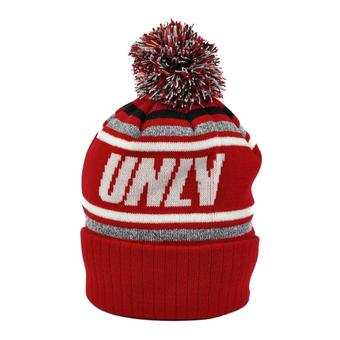 UNLV Rebels Top Of The World Red Stryker Cuffed Pom Knit Hat (Adult One Size)